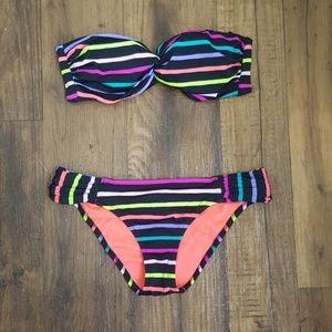 VS Push-up Strapless Bikini Set